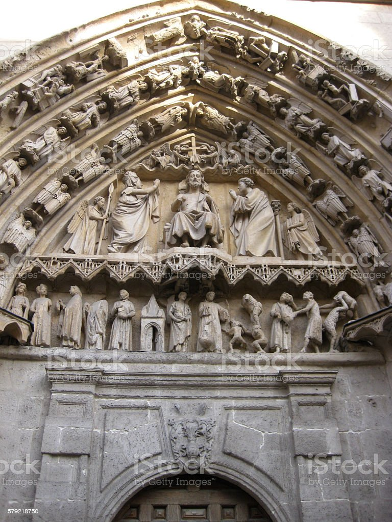 Relief of the Cathedral of Burgos. stock photo