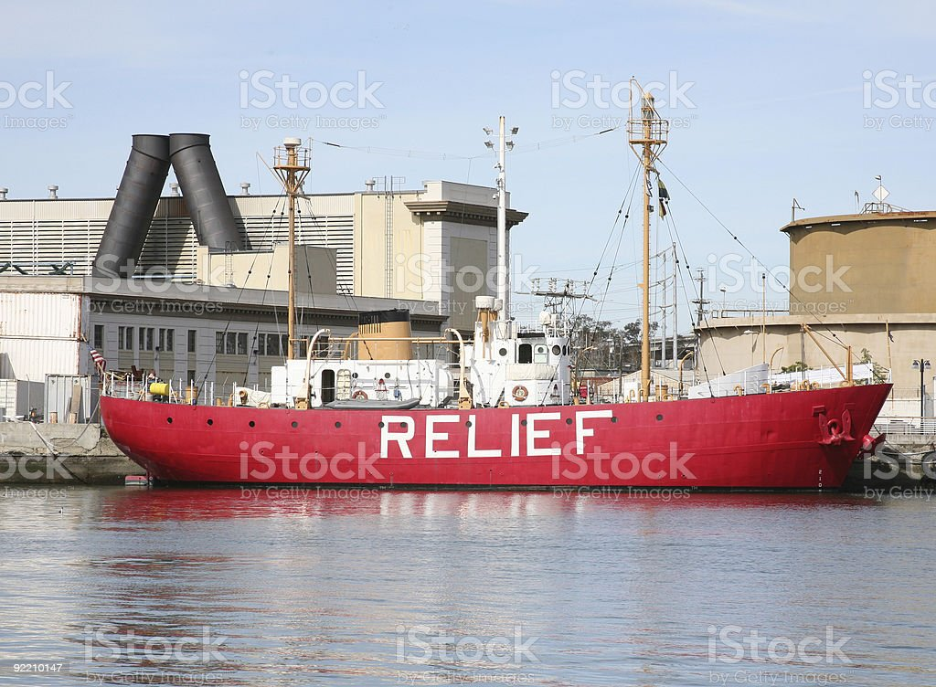 Relief Supply Ship stock photo