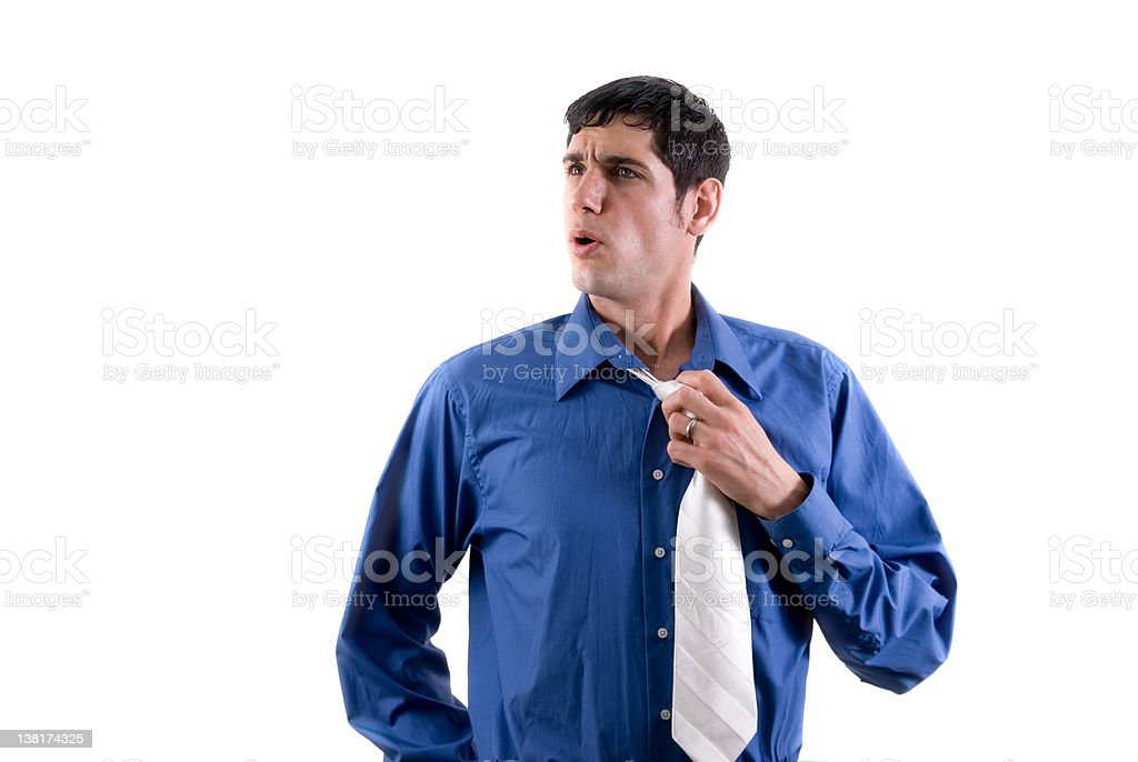 Relieved business person stock photo