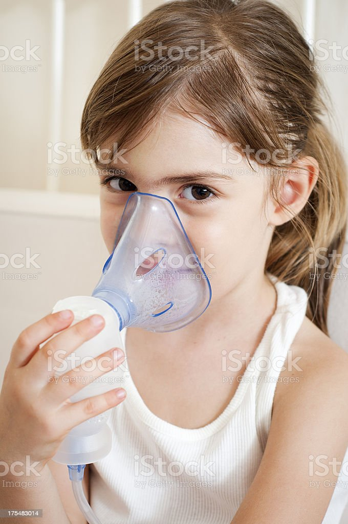 Relievieng the cough stock photo
