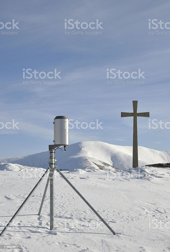 Religion and science royalty-free stock photo