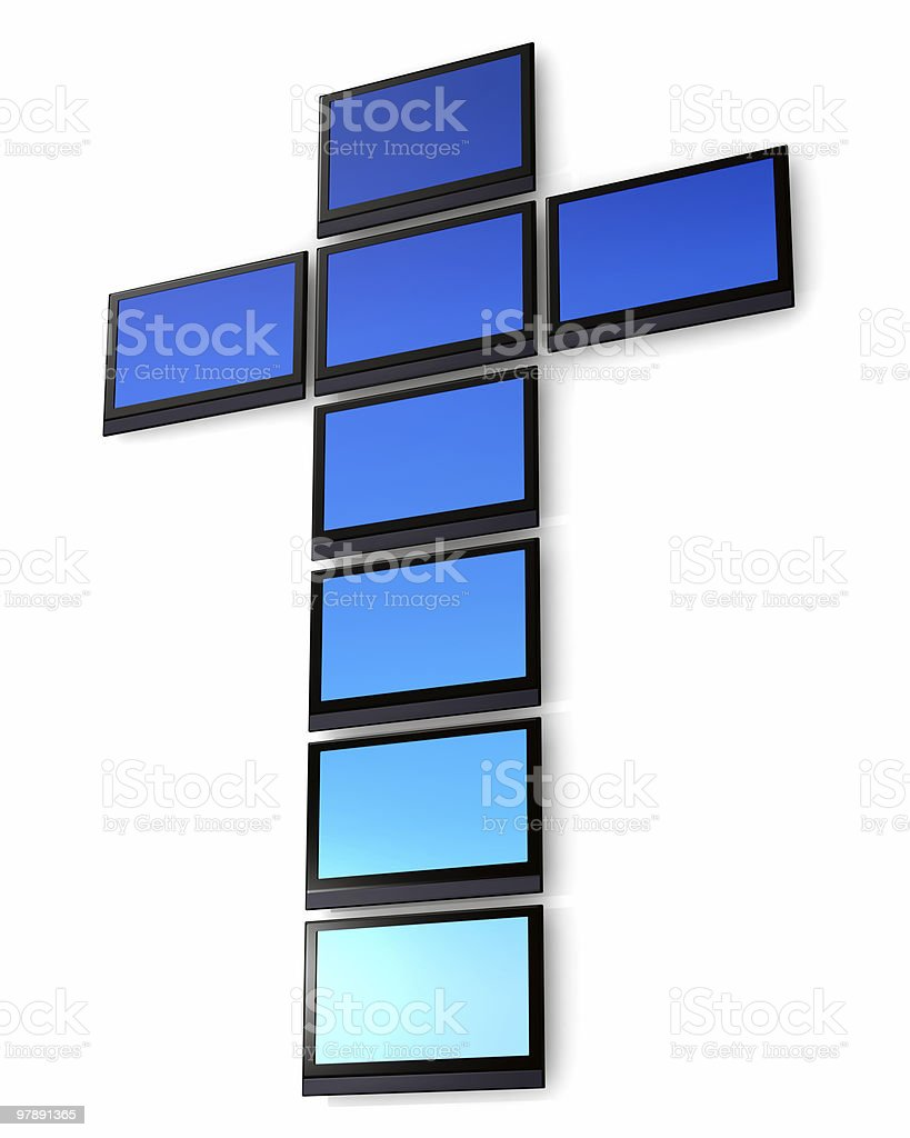 Religion and the Media royalty-free stock photo