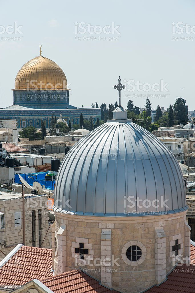 Religions in Jerusalem stock photo