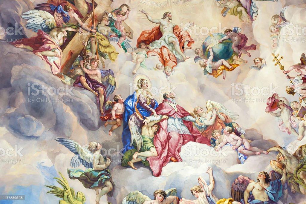Religious 18th century art stock photo