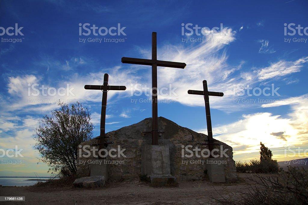 Religious building  Cross stock photo