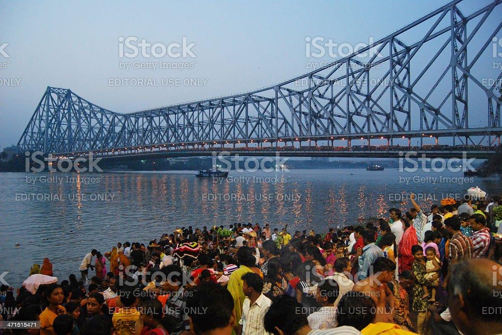 Religious Calcutta royalty-free stock photo