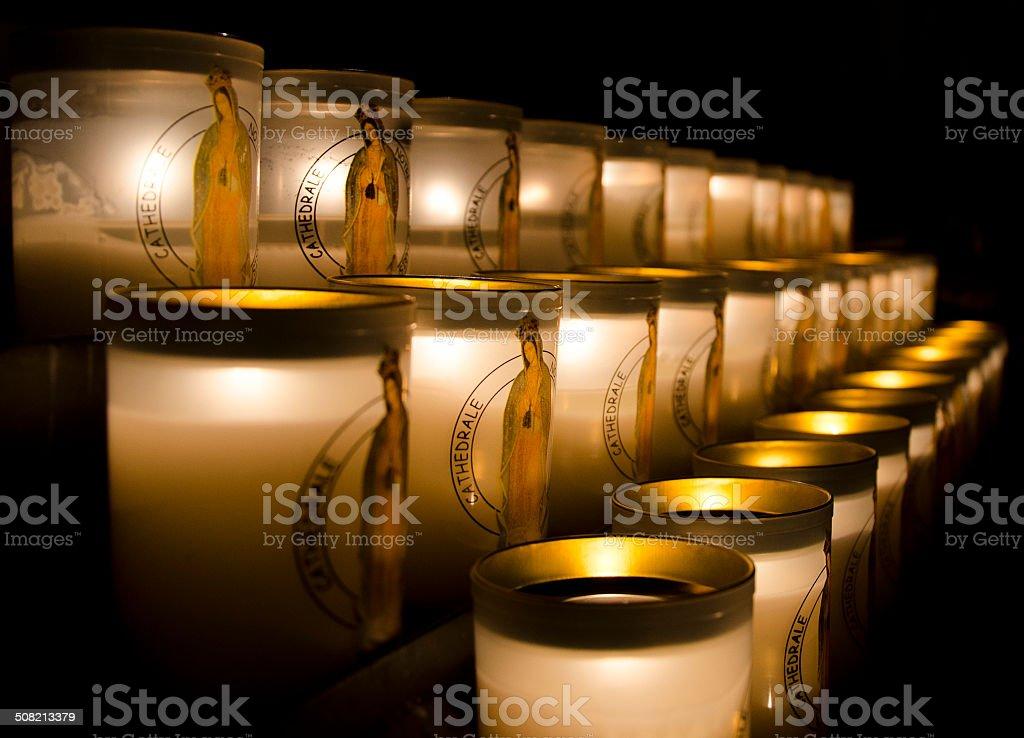Religious candles royalty-free stock photo
