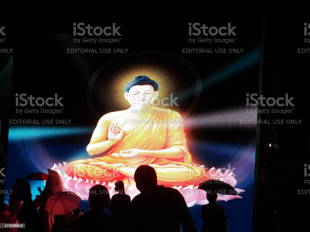 Religious day in Buddhism stock photo