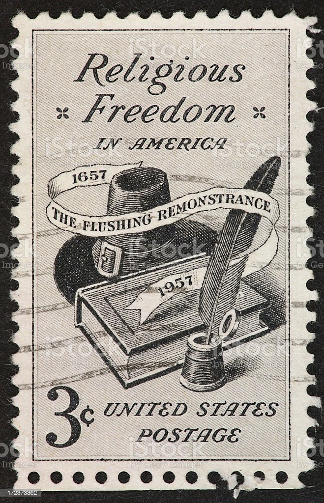 religious freeddom stamp 1957 stock photo