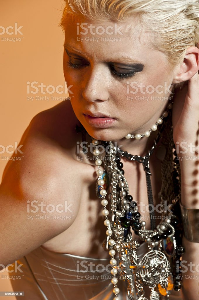 Religious girl royalty-free stock photo