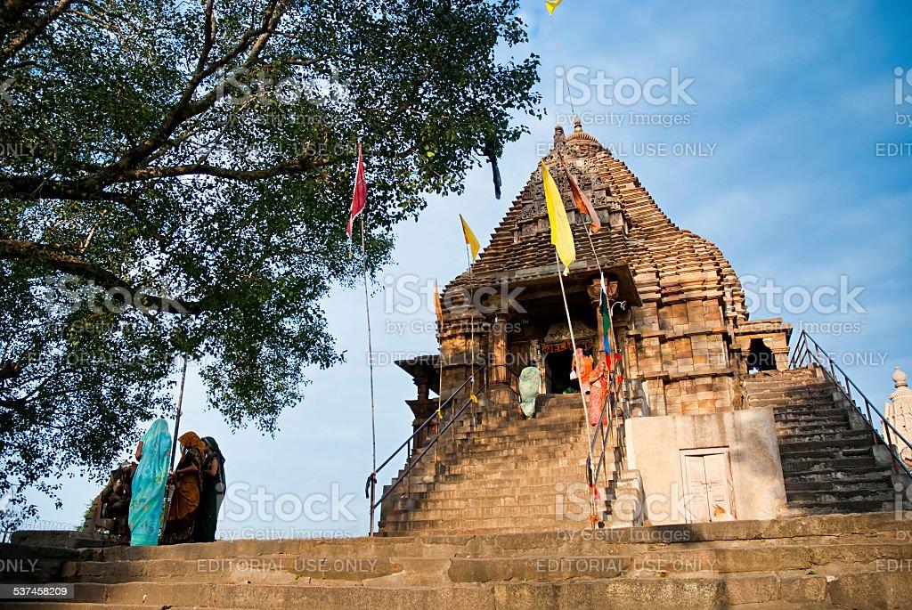 Les fêtes religieuses dans temple de Khajuraho, Inde. photo libre de droits