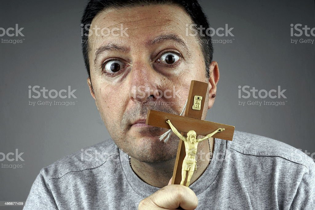 Religious Man stock photo