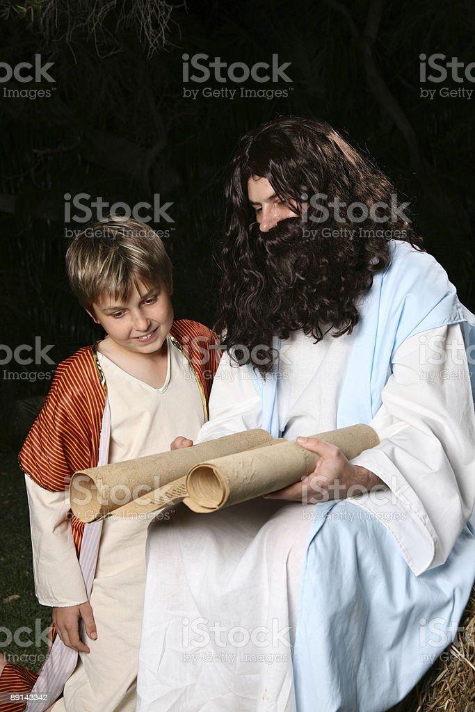 Religious man teaching the scriptures royalty-free stock photo