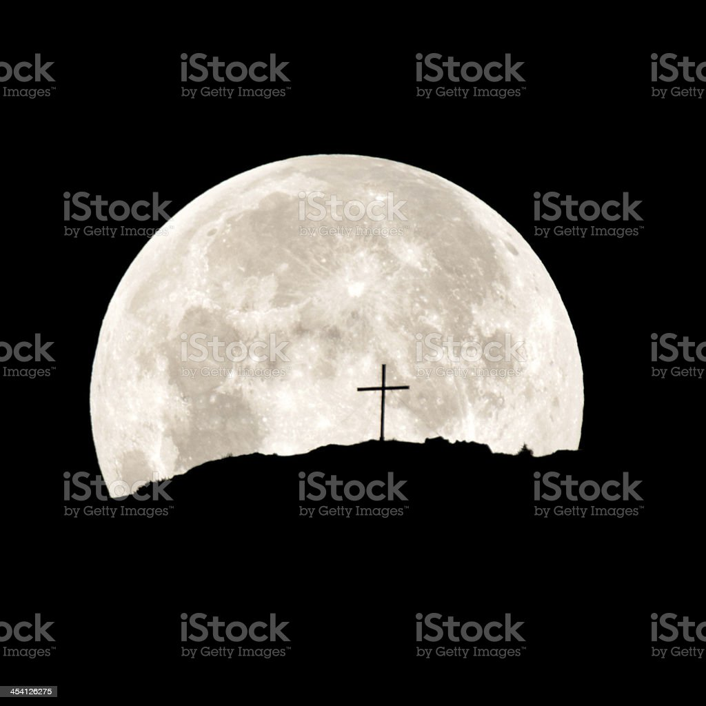 Religious Moon Rise stock photo