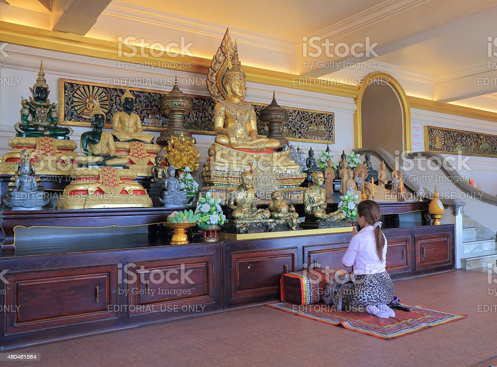 Religious people Buddhism Thailand stock photo