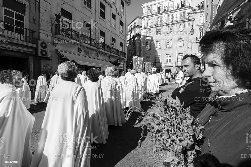 Religious Procession Every May in Lisbon royalty-free stock photo