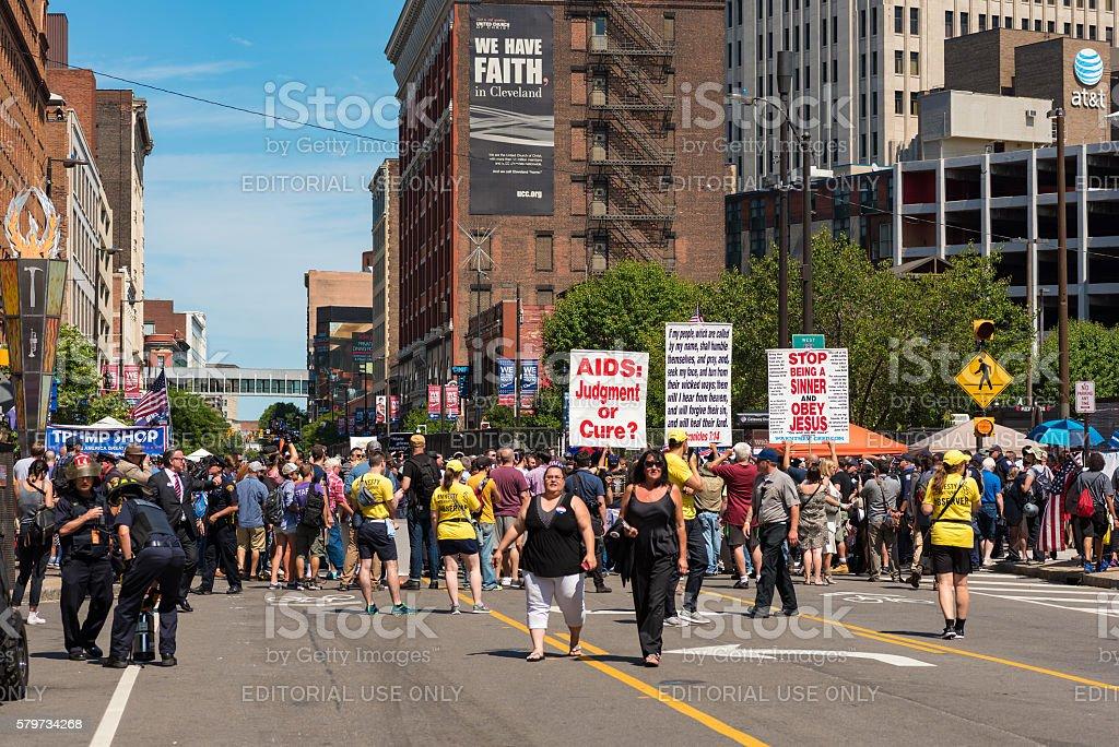 Religious rally stock photo