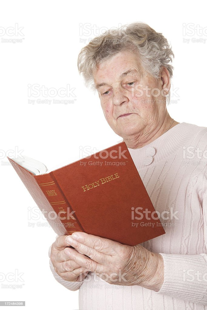 Religious senior royalty-free stock photo