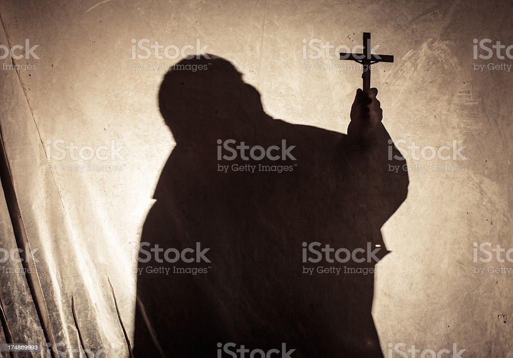 Religious silhouette royalty-free stock photo