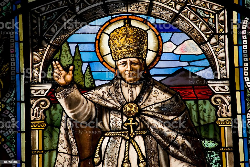Religious Stained Glass stock photo