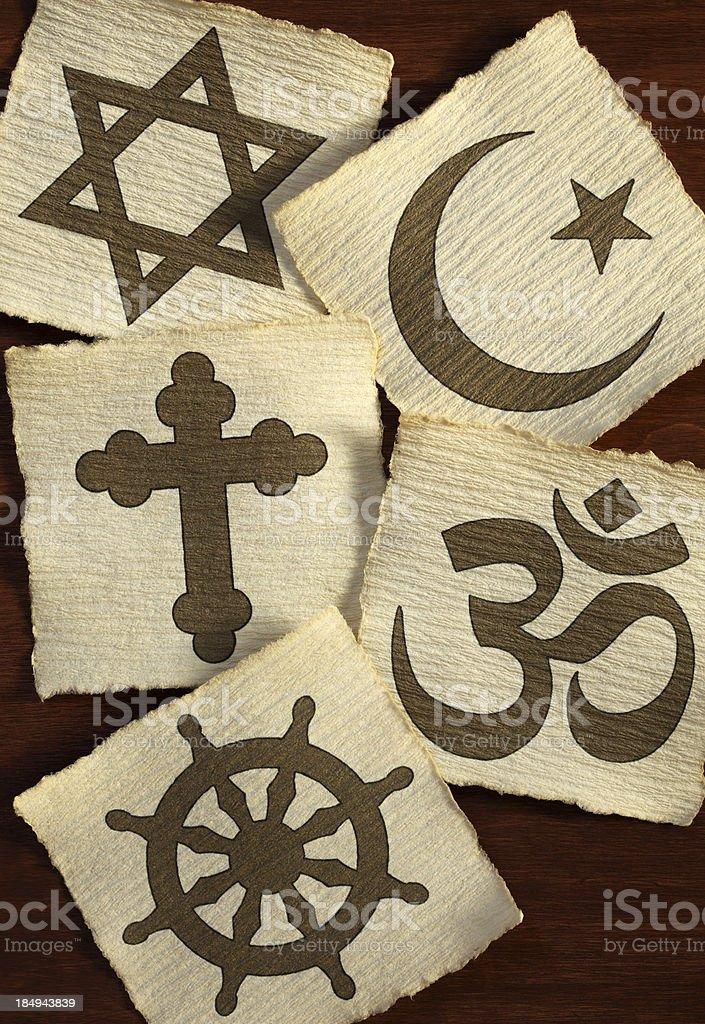 Religious symbols royalty-free stock photo