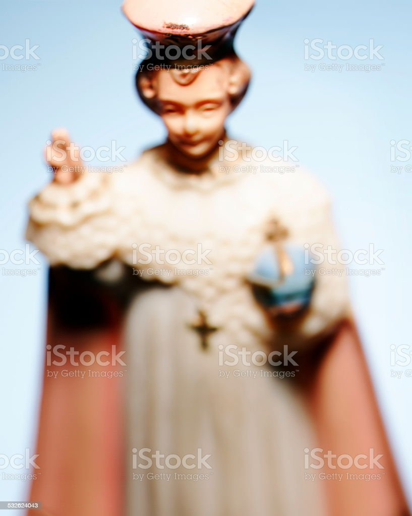 Religious Woman Figurine stock photo