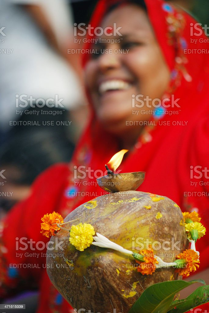Religious woman royalty-free stock photo