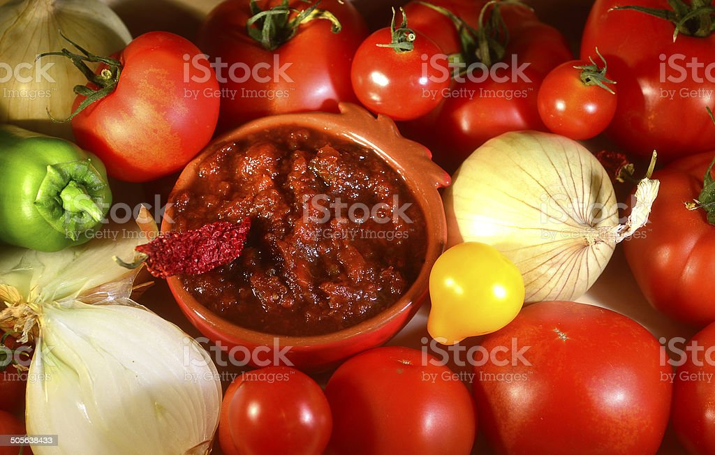 Relish tomato. stock photo