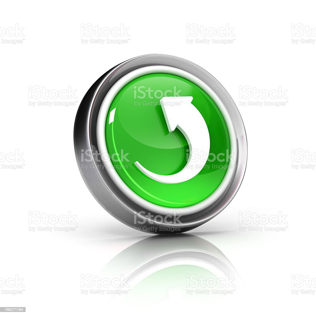 reload, reset or refresh icon royalty-free stock photo