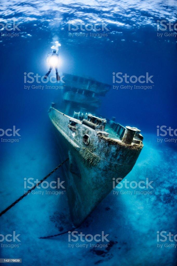 Remainings of the Kittiwake Shipwreck stock photo