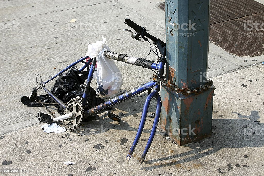 Remains of a bike stock photo