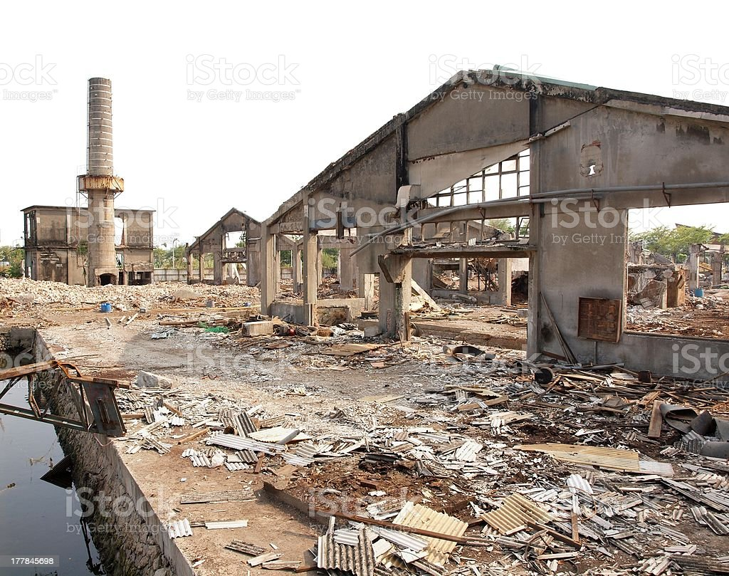 Remains of an Old Factory stock photo