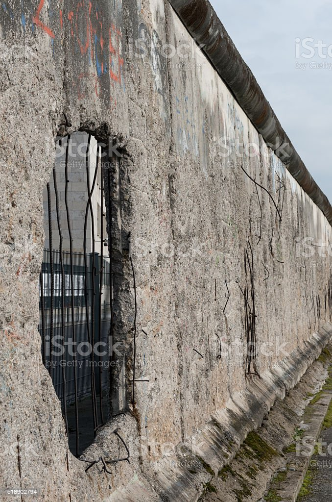 Remains of Berlin Historical wall stock photo