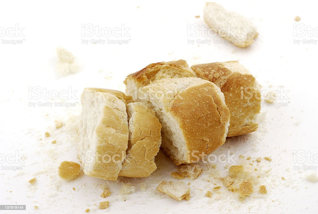 Remains of bread royalty-free stock photo