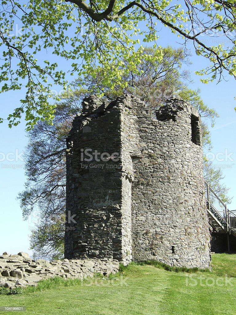 Remains of Kendal castle stock photo