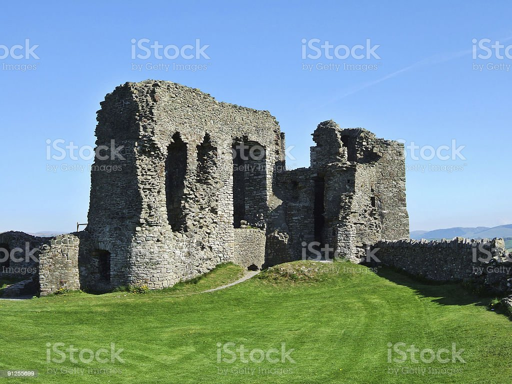 Remains of Kendal castle royalty-free stock photo