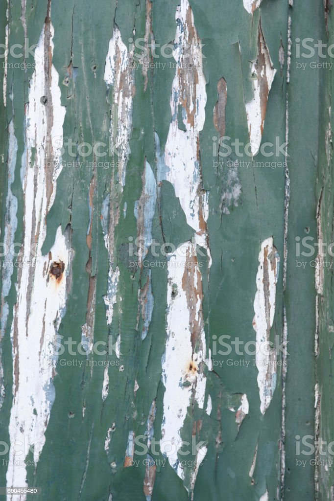 Remains of paint on old wood, stock photo