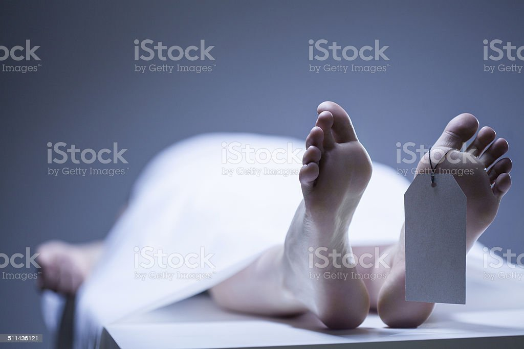 Remains of person stock photo