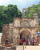 Remains of the A Famosa Portuguese Fort in Malacca, Malaysia
