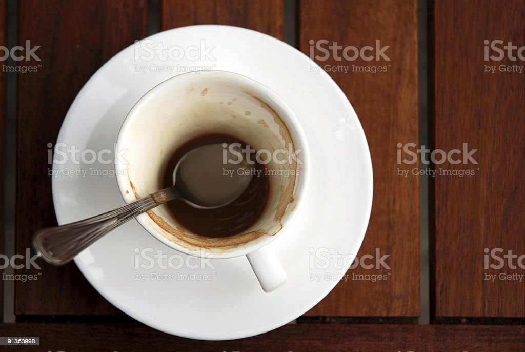 Remains of the coffee royalty-free stock photo