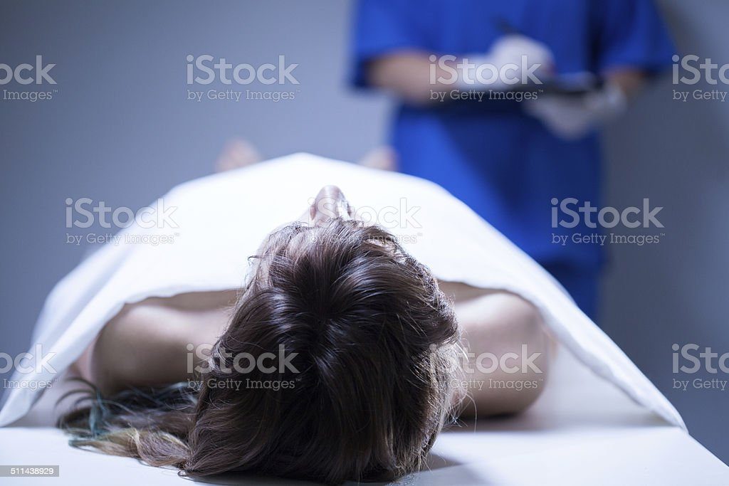 Remains of woman stock photo