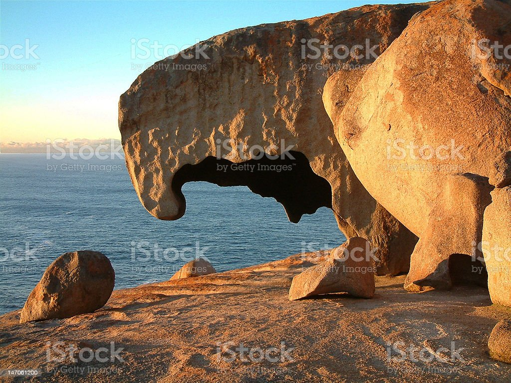 Remarkable Rocks, Kangaroo Island stock photo