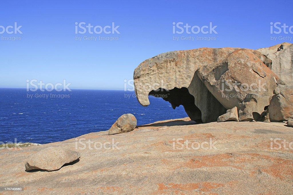 Remarkable Rocks, Kirkpatrick point, Kangaroo island, Australia royalty-free stock photo