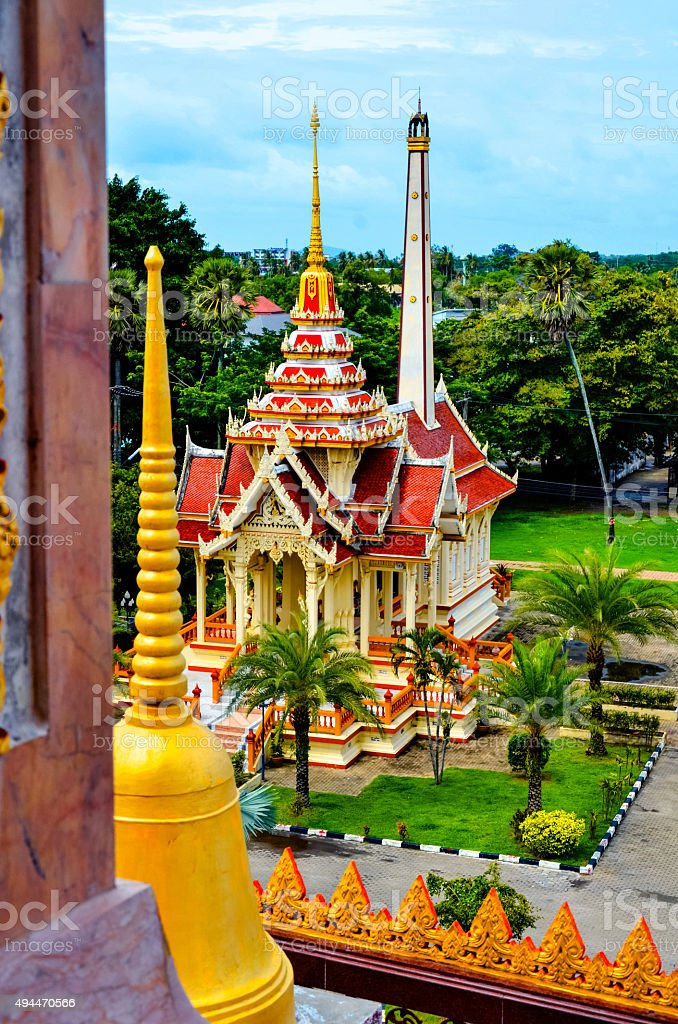 Сrematorium in Wat Chalong church stock photo