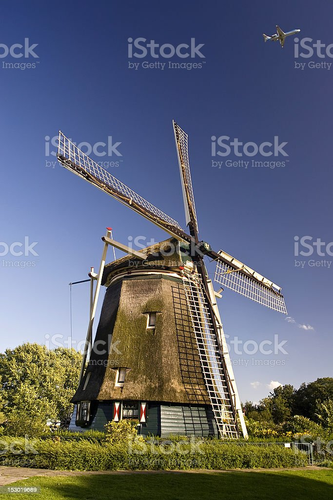 Rembrandt's windmill in Amsterdam royalty-free stock photo