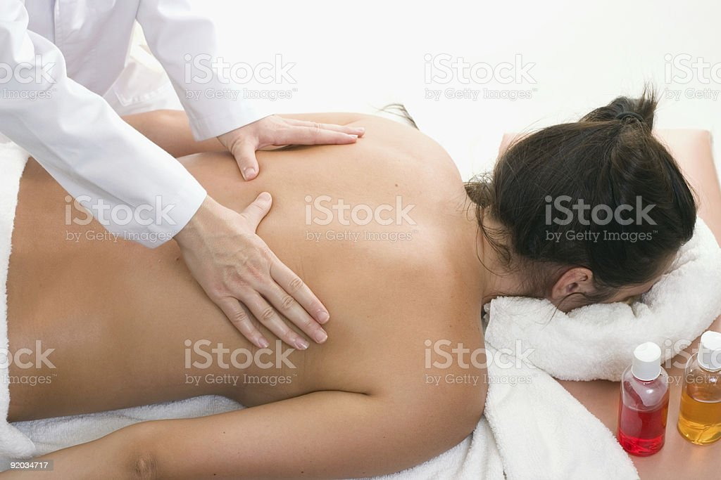 Remedial Massage stock photo