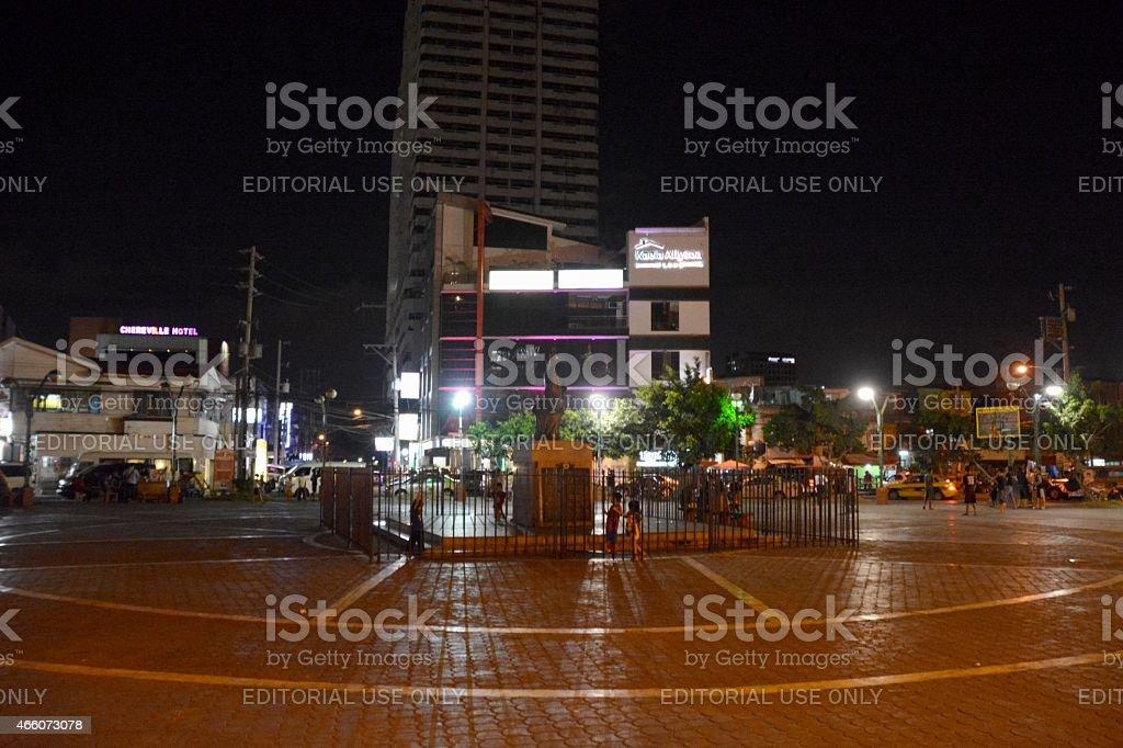 Remedios Circle - Malate district, Manila Philippines stock photo
