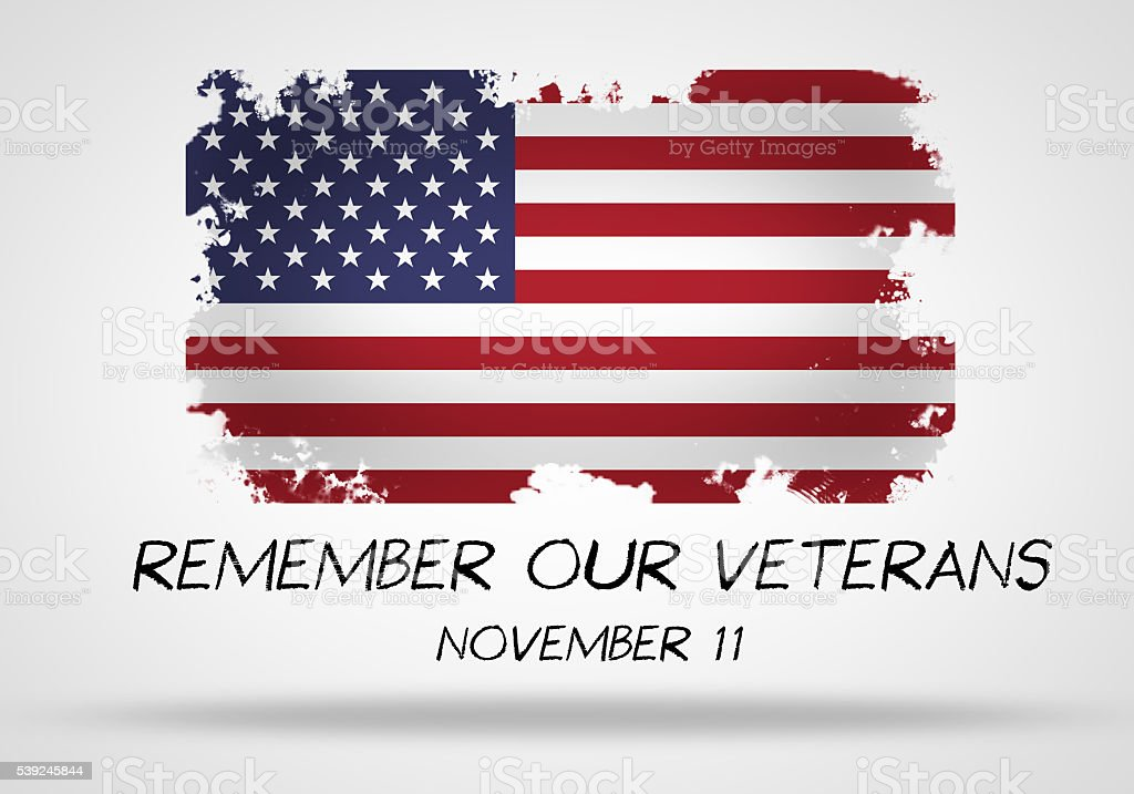Remember our veterans stock photo