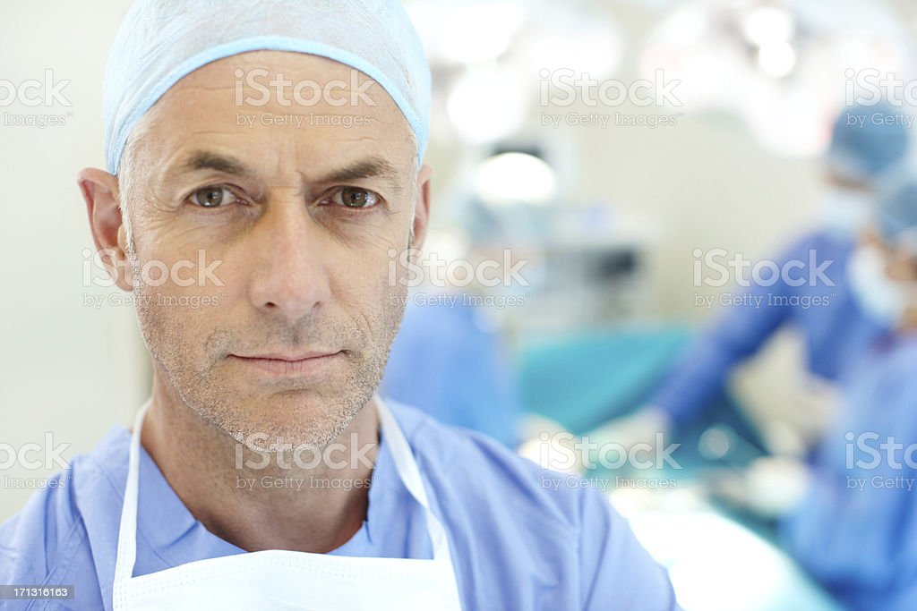 Remember this face - he will save your life royalty-free stock photo