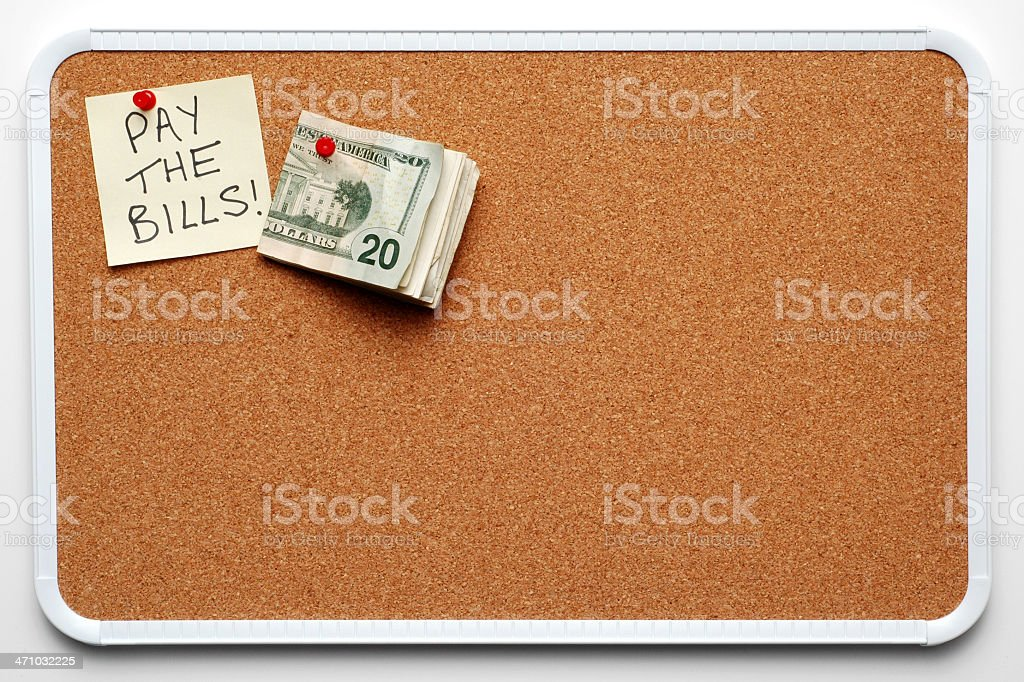 Remember to Pay the Bills! royalty-free stock photo